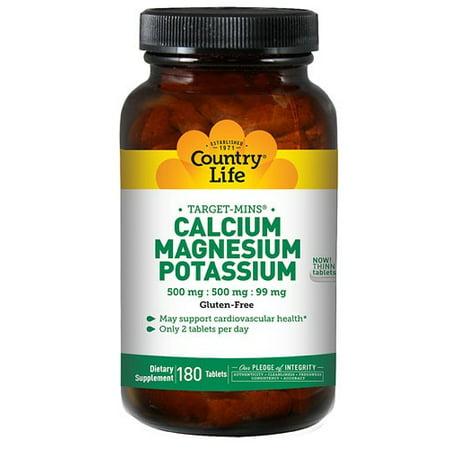 Country Life Vitamins Cal-Mag-Potassium, 180 Ct