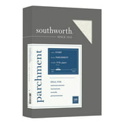 """Southworth® Parchment Specialty Paper, 8 1/2"""" x 11"""", 24 Lb, Ivory, Pack Of 500"""
