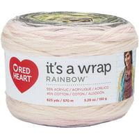 Red Heart It's A Wrap Rainbow Yarn-Whisper
