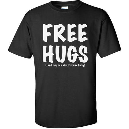 FREE HUGS Short Sleeve T-Shirt in Black (Free Hugs)