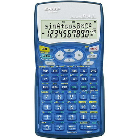 Sharp EL-531WBBL Scientific Calculator, Translucent Blue - Walmart.com