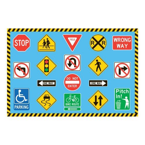 Fun Time Traffic Signs Rug