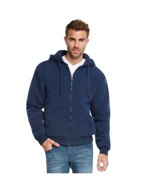 Product Image 9 Crowns Essentials Mens Full Zip Sherpa Lined Fleece Hoodie  Jacket 7d2d63dbe727