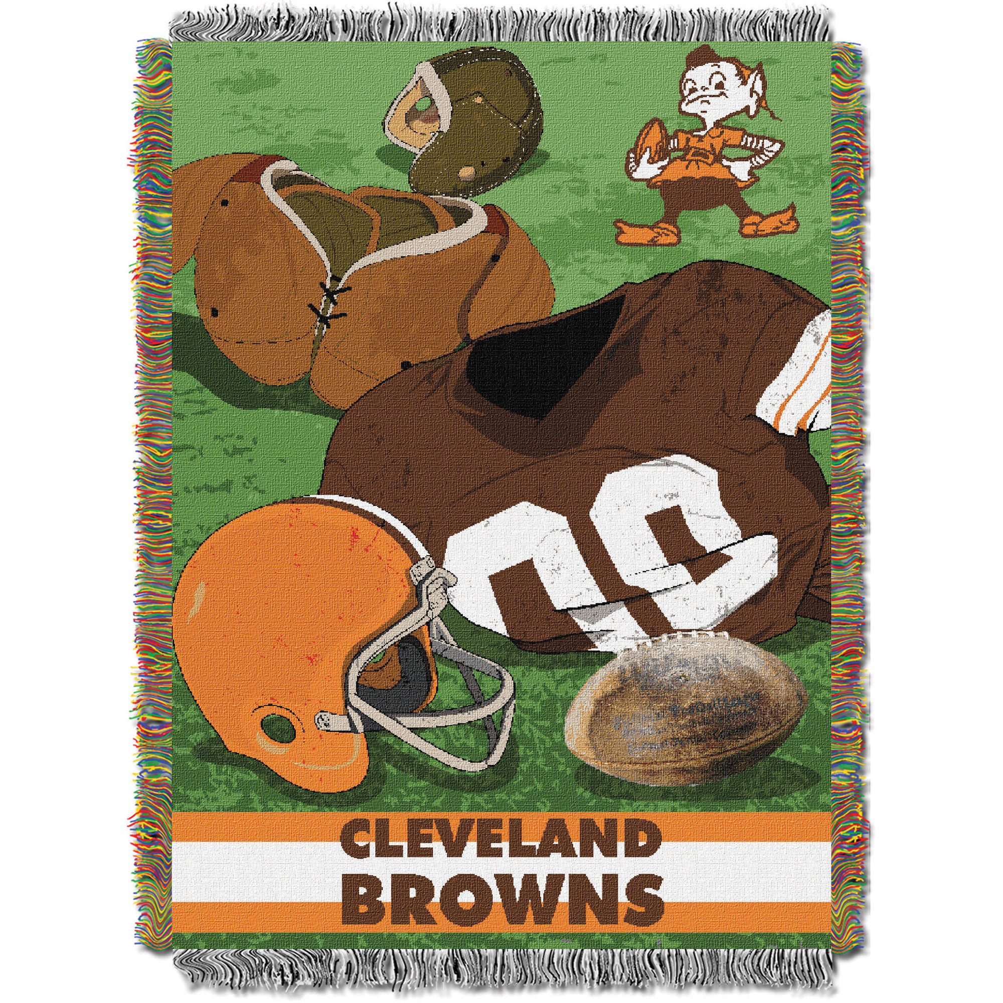 Cleveland Browns The Northwest Company 48'' x 60'' Vintage Woven Tapestry Throw - No Size