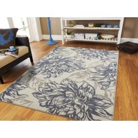 Century Rugs Large Rugs for Living Room 8x10 Gray Black Navy Ivory Cheap Rugs Cream Dynamix Modern Rug 8x11