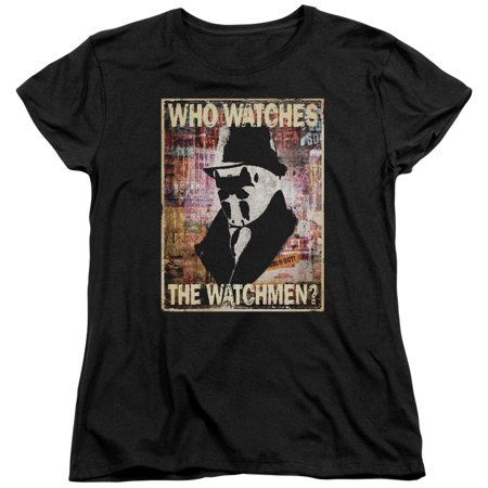 Watchmen Who Watches Womens Short Sleeve Shirt