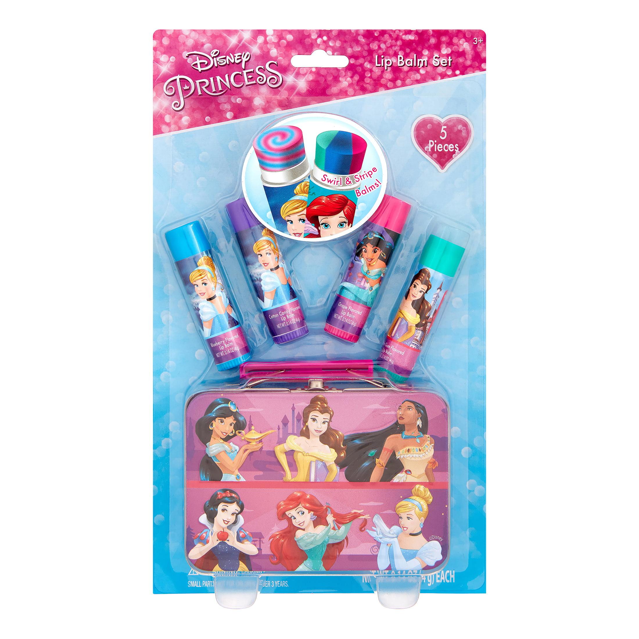 Disney Princess Lip Balm Gift Set with Metal Tin, 5 Pieces ($9.99 Value)