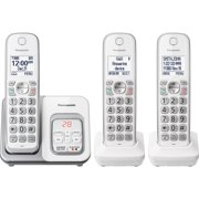 Panasonic Expandable Cordless Phone with Call Block and Answering Machine - 3 Handsets