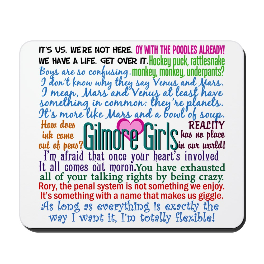 CafePress - Gilmore Girls - Non-slip Rubber Mousepad, Gaming Mouse Pad