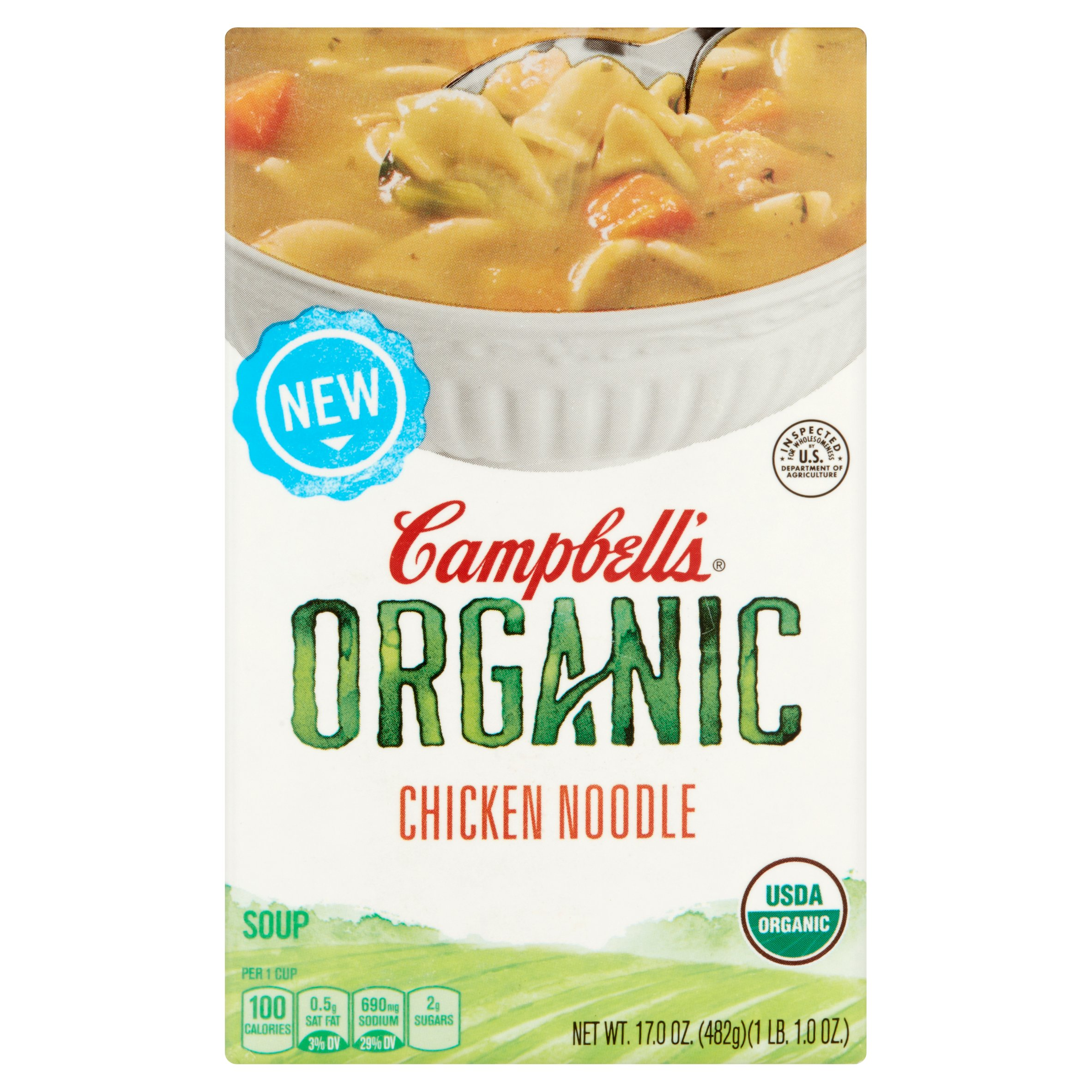 Campbell's Organic Chicken Noodle Soup 17oz by Campbell Soup Company