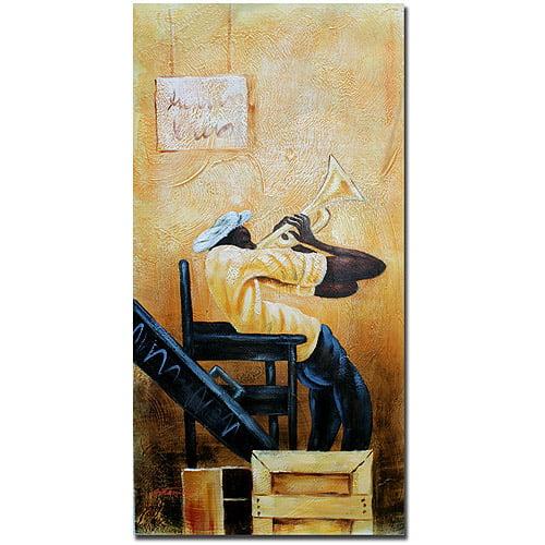 """Trademark Fine Art """"Urban Jazz"""" Canvas Art by Antonio"""