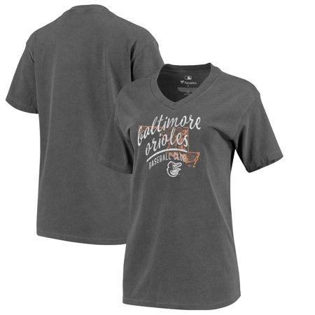 Baltimore Orioles Fanatics Branded In Partnership with Alta Gracia Women's Warp State V-Neck T-Shirt - Black - Malls In Baltimore