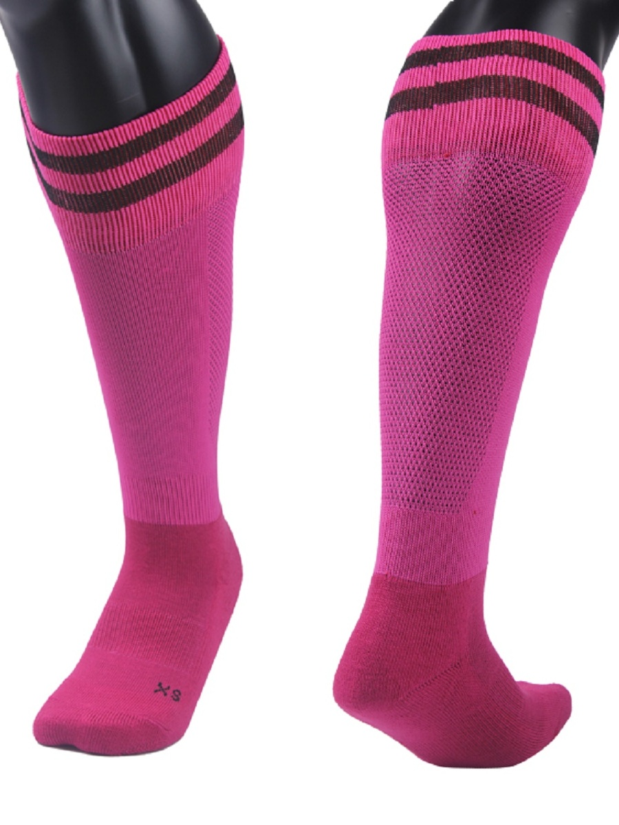 Lian LifeStyle Unisex 1 Pair Knee Length Sports Socks Striped Size XS/S/M