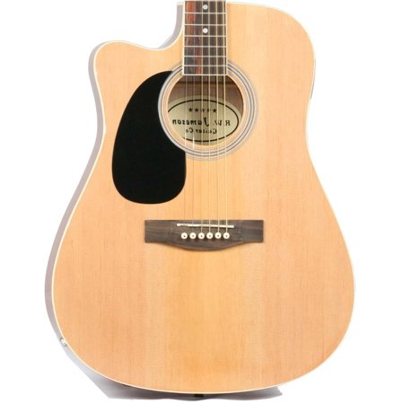 Left Handed Guitar Nut - Jameson Guitars Natural Left Handed Thinline Full Size Acoustic Electric Guitar With Case And Picks