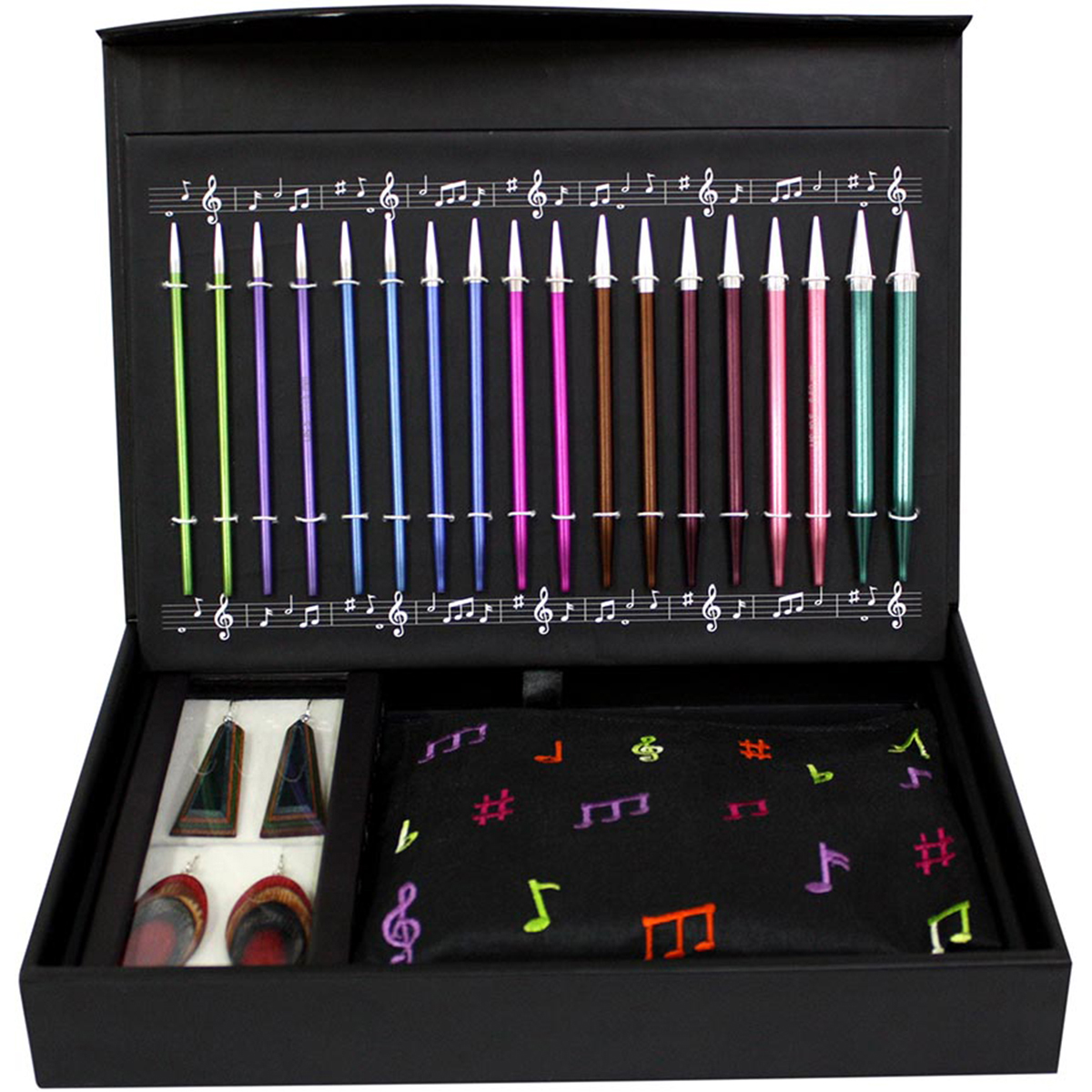 """Knitter's Pride-Melodies Of Life """"Zing"""" Interchangeable Need-9 Pairs / 4 Cords / Accessories"""