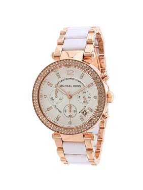 b51b953b8f76 Product Image Women s Parker Chronograph Two-Tone Stainless Steel Watch. Michael  Kors
