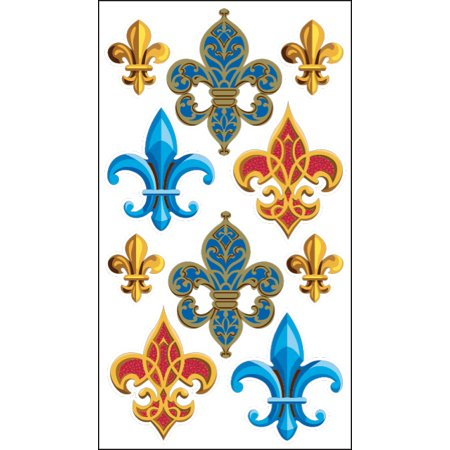 Fleur De Lis Stickers (Sticko Fleur De Lis Stickers, 10)