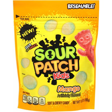 (3 Pack) Sour Patch, Kids Mango Soft & Chewy Candy, 10.0 - Sour Patch Halloween Candy
