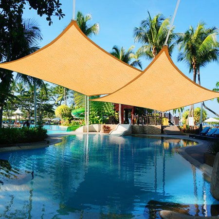- Yescom 2pcs 16'x12' Rectangle Sun Shade Sail UV Blocking Canopy Cover