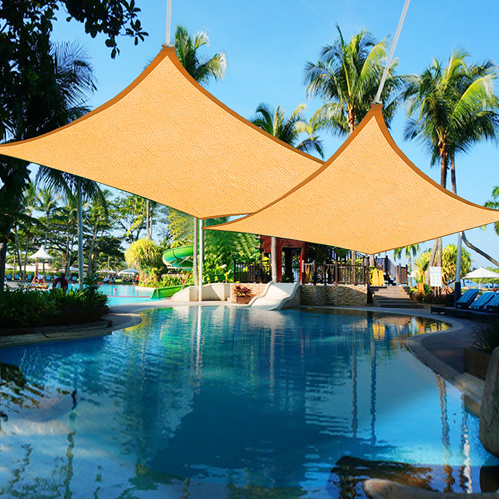 Yescom 2pcs 16'x12' Rectangle Sun Shade Sail UV Blocking Canopy Cover