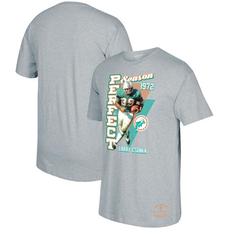 - Larry Csonka Miami Dolphins Mitchell & Ness Retired NFL Player Graphic T-Shirt - Gray