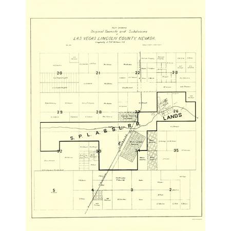 Old City Map - Las Vegas Nevada Homeowners - Williams 1905 - 23 x ...