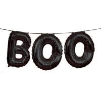 """""""BOO"""" Halloween Letter Balloon Banner Kit, Black"""
