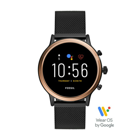 Fossil Gen 5 Julianna HR Smartwatch - Black Stainless Steel Mesh - Powered with Wear OS by