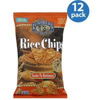Lundberg Family Farms Santa Fe Barbecue Rice Chips, 6 oz, (Pack of 12)