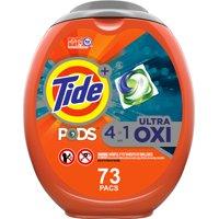 Tide Pods Plus Oxi, Laundry Detergent Pacs, 73 ct.
