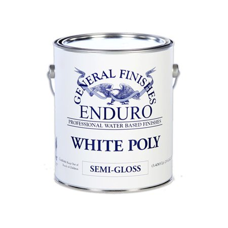 Pole Finish - General Finishes, White Poly, Semi-Gloss, Gallon