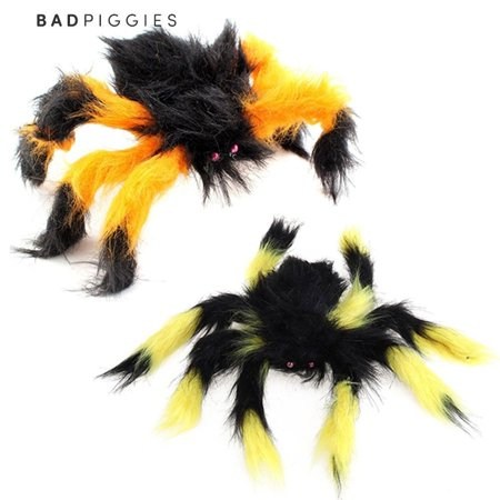 Scary Spiders For Halloween (BadPiggies Halloween Plush Giant Spider Scary Decoration Haunted House Yard Props 30/75/125/150cm (30cm, Random)