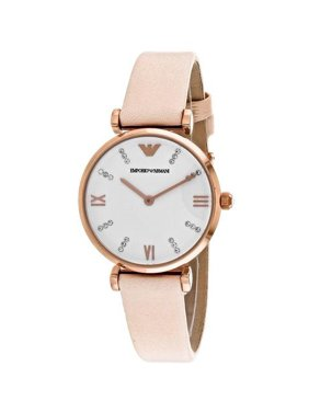 d566eb3639 Product Image Emporio Armani Women s AR1927 Peach Leather Quartz Watch
