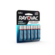 Rayovac High Energy Alkaline, AA Batteries, 6 Count