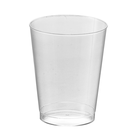 Kaya Collection - Disposable Round Hard Plastic Cups - Clear Tumblers 7oz (40 Cups)