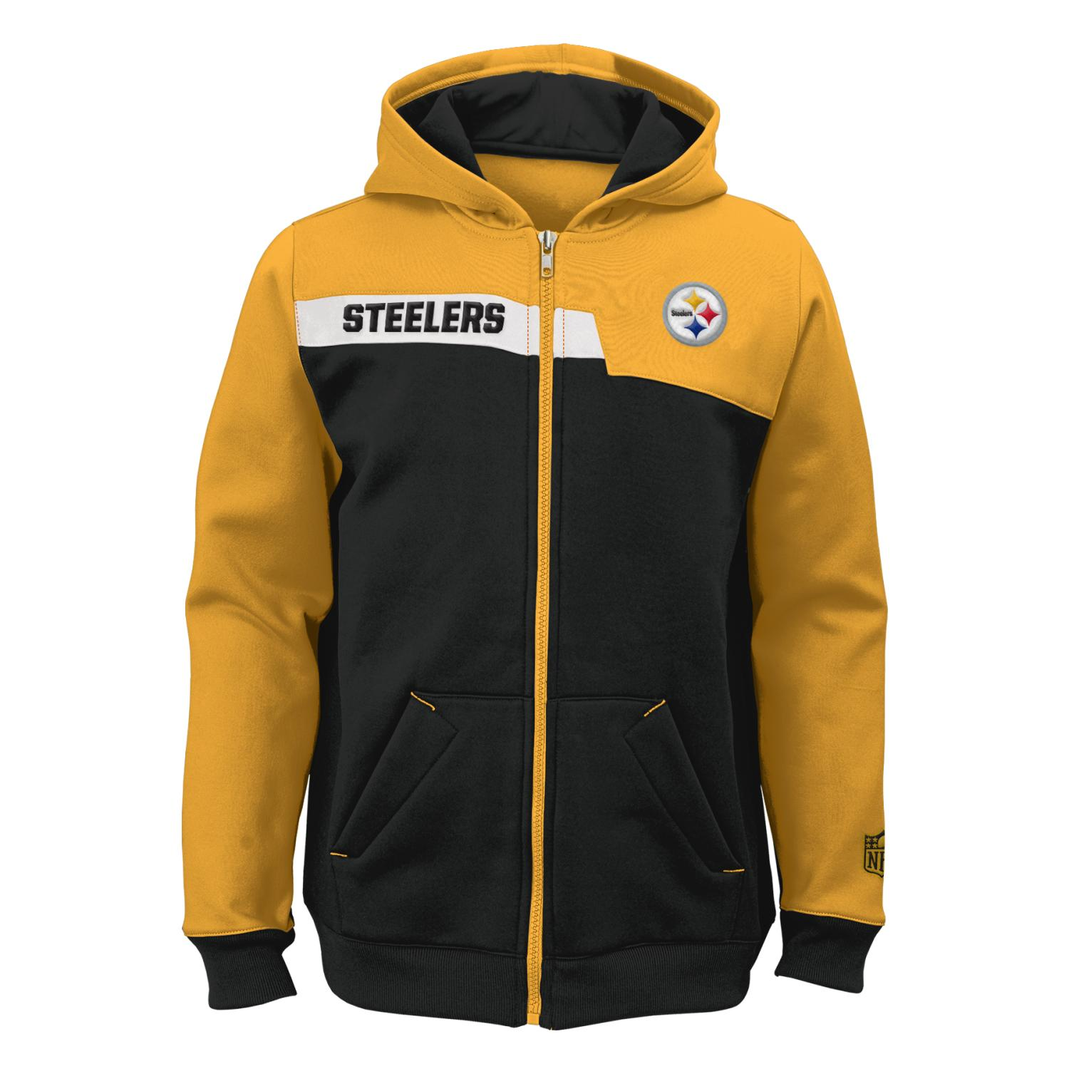 "Pittsburgh Steelers Youth NFL ""Resilient"" Full Zip Performance Sweatshirt"