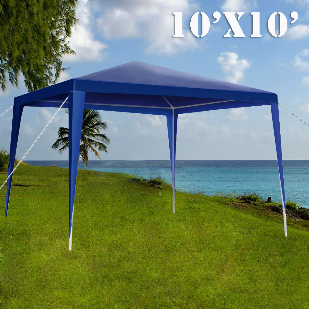 Loadstone Studio 10 X 10 Outdoor Gazebo Easy up Canopy Kit Wedding Blue Party