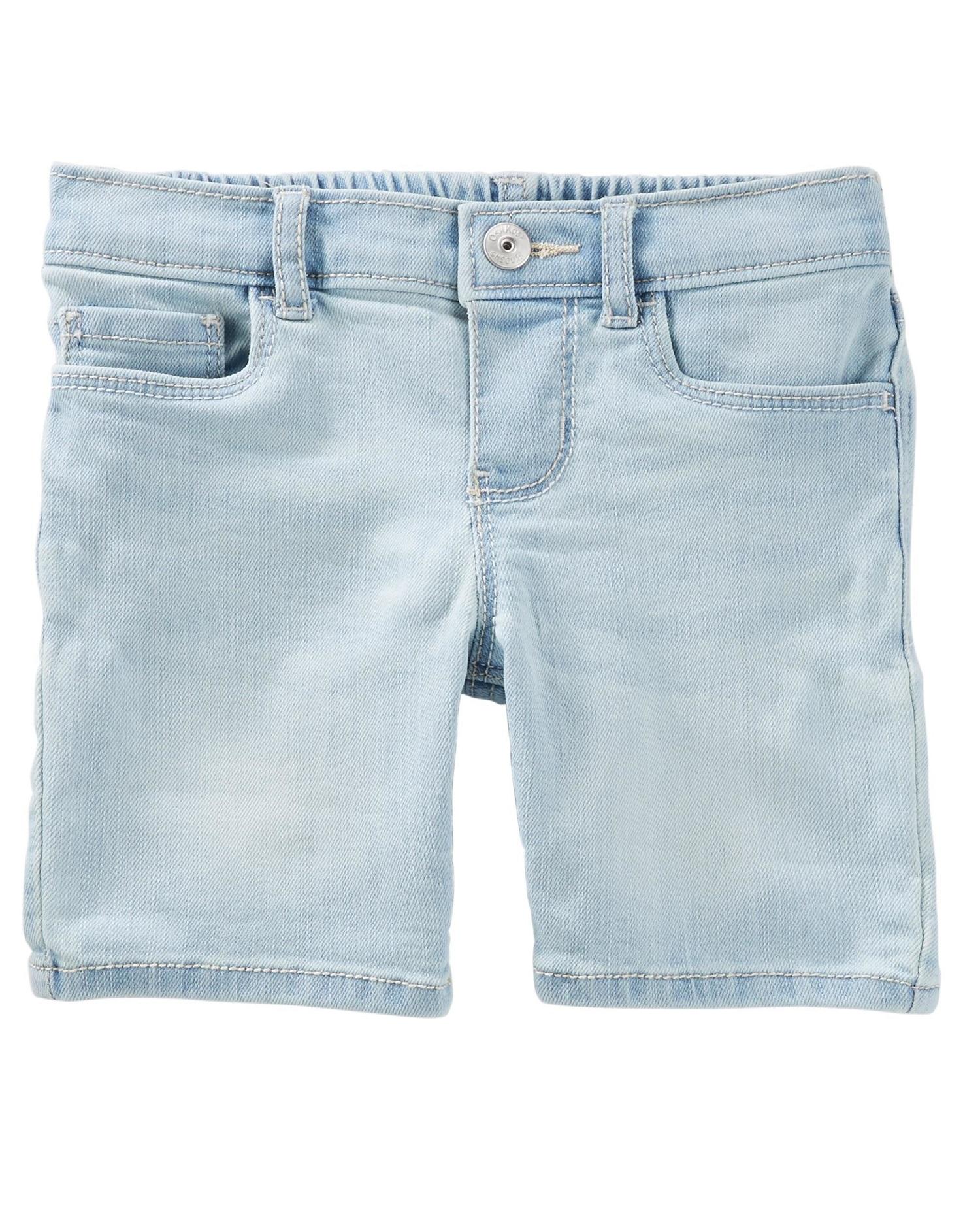OshKosh B'gosh Big Girls' Denim Skimmer Shorts, 12-Kids