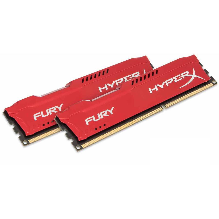 Kingston 8GB 1600MHz DDR3 Non-ECC CL10 DIMM (Kit of 2) HyperX FURY Red Series Memory Module