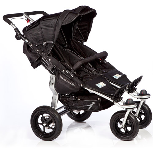 Trends for Kids Twinner Twist Duo Jogging Stroller, Black
