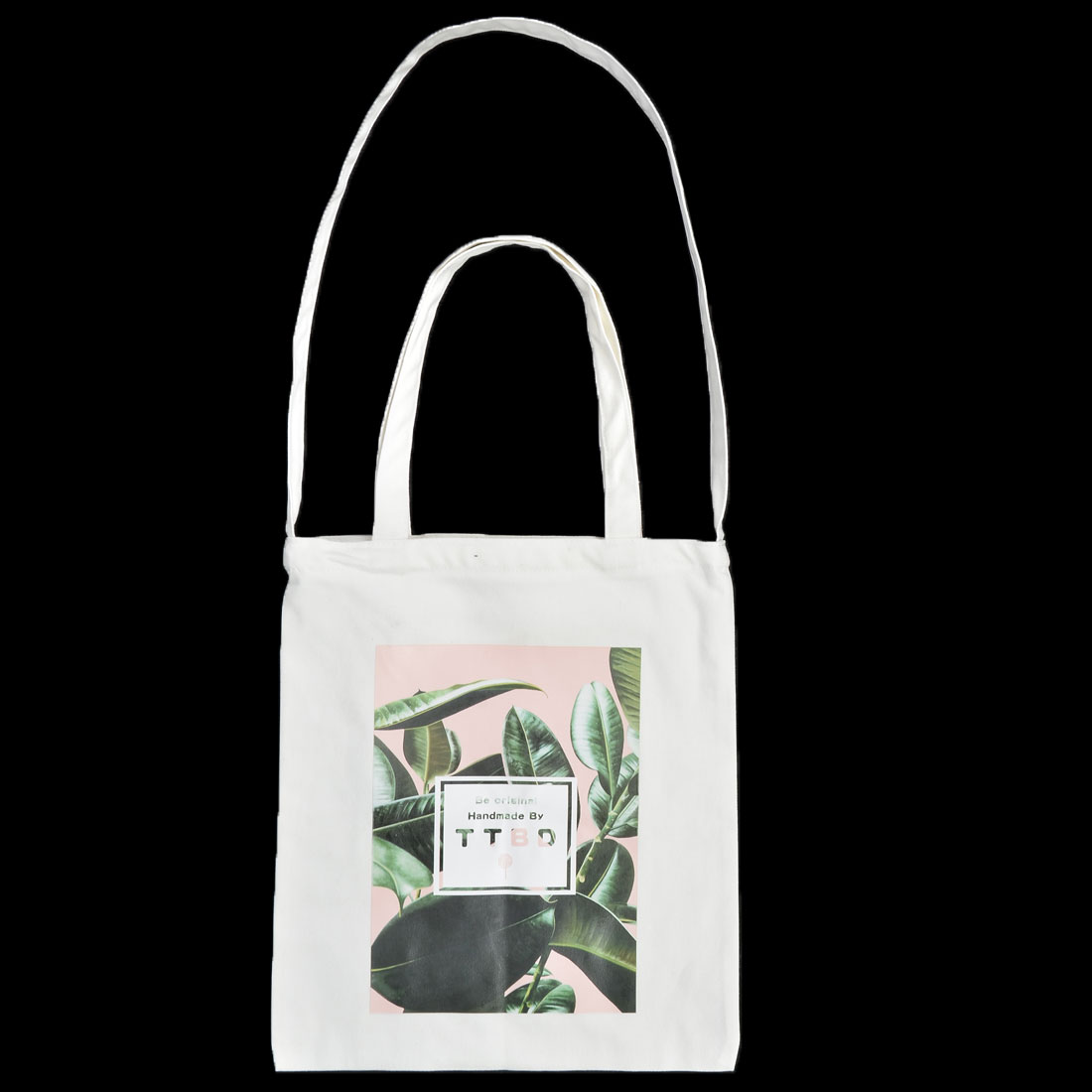 Travel Canvas Leaf Pattern Sundries Cosmetic Toothpaste Holder Tote Bag White - image 1 of 4
