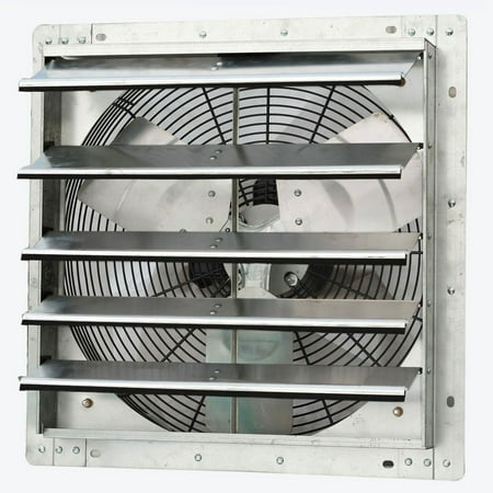 Roof Exhaust Fans - iLiving ILG8SF18V 18 Inch Variable Speed Wall Mounted Steel Shutter Exhaust Fan