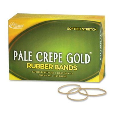 Pale Crepe Gold Rubber Band ALL20165