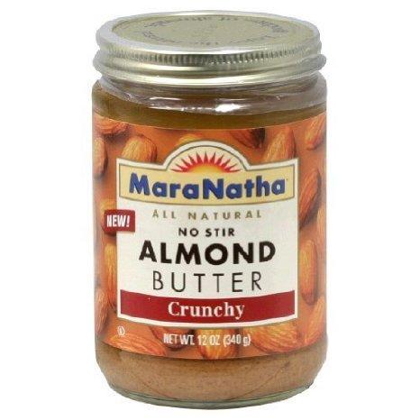 12 PACKS : Maranatha Natural Foods 12 Oz Crunchy Almond Butter No Stir