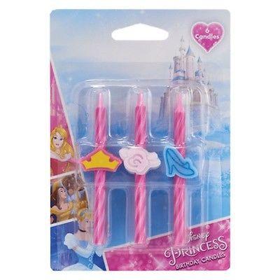 Disney Princess Birthday Candles 6  Count - National Cake Supply