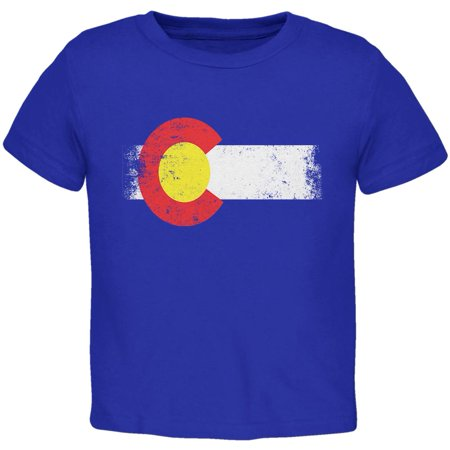 Born and Raised Colorado State Flag Toddler T