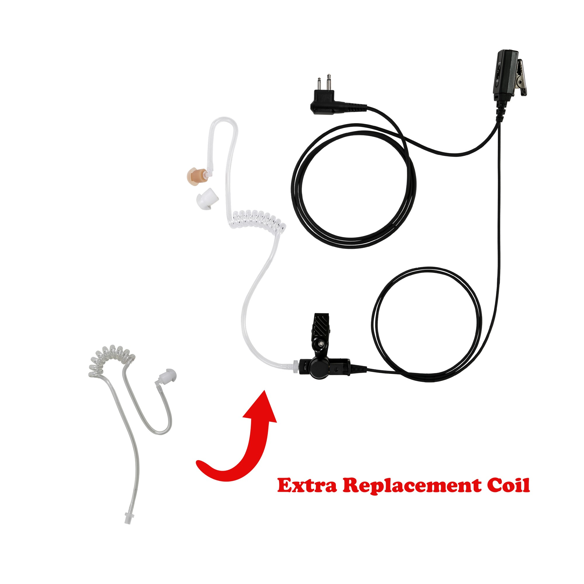 Maxtop ASK2425-H1 1-Wire Clear Coil Surveillance Kit