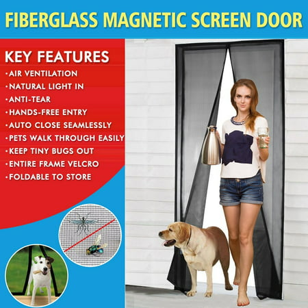 Magnetic Screen Door 2017 Mesh With Magnets Fly Mosquitos Bug Insect For Sliding