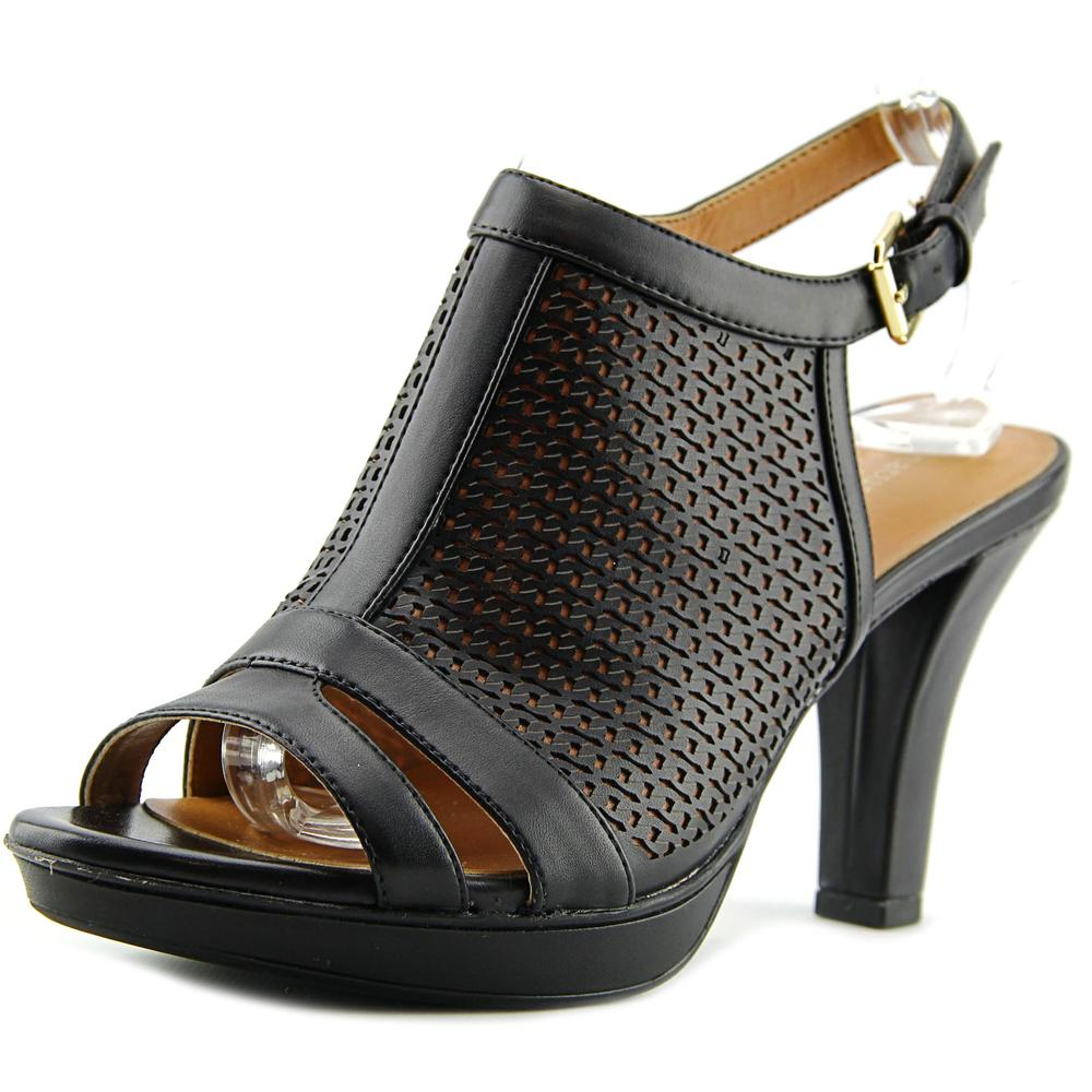 Click here to buy Naturalizer Dania Women Open-Toe Synthetic Black Slingback Sandal by Naturalizer.