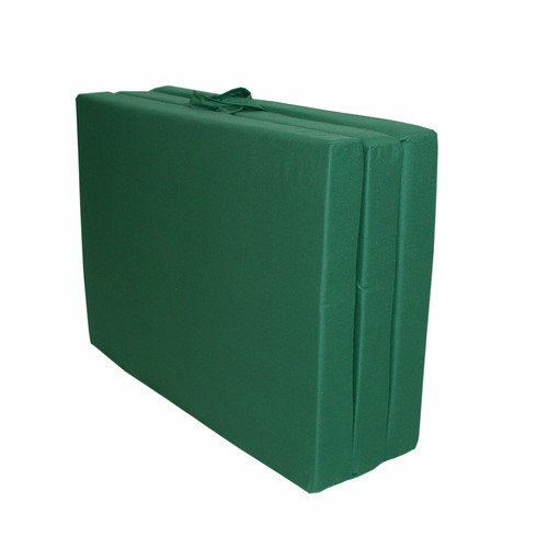 Elite Products Hunter Green Twin 39'' Tri-Fold Floor Mat (Poly Cotton)